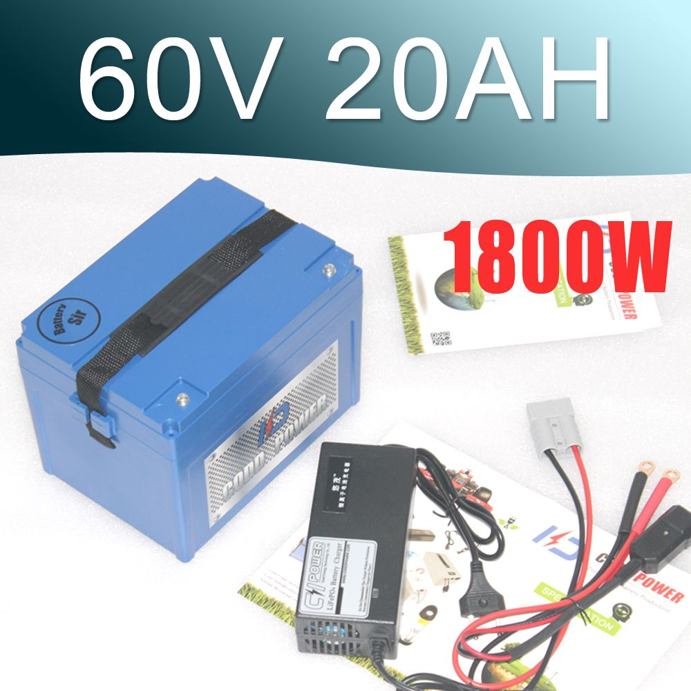 Lithium Rechargeable Battery 60V 20Ah Electric Bike Battery 60V For 2000W Motor