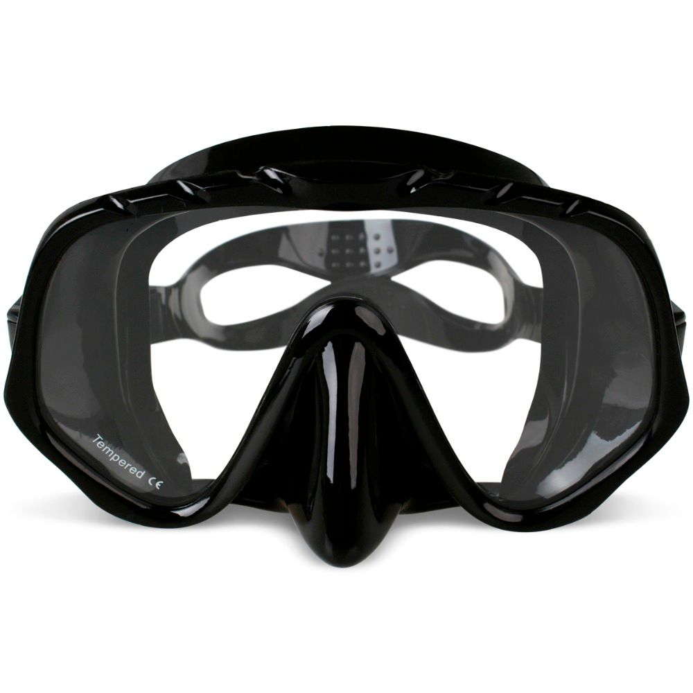 Copozz Brand Professional Skuba Diving Mask Goggles <font><b>Wide</b></font> Vision Watersports Equipment With Anti-fog One-piece lens Underwater