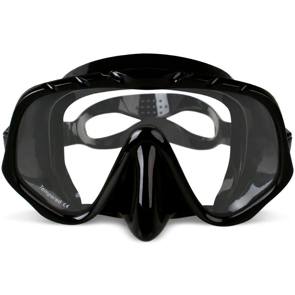 Copozz Brand Professional Skuba Diving Mask <font><b>Goggles</b></font> Wide Vision Watersports Equipment With Anti-fog One-piece lens Underwater