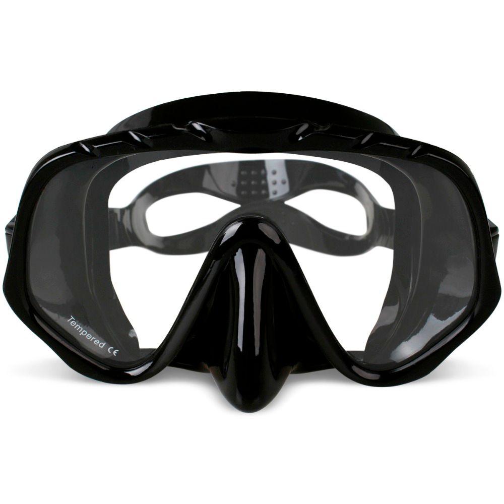 Copozz Marque Professionnel Skuba Plongée Masque Lunettes Large Vision Équipements de Sports Nautiques Avec Anti-brouillard lentille d'une Seule pièce