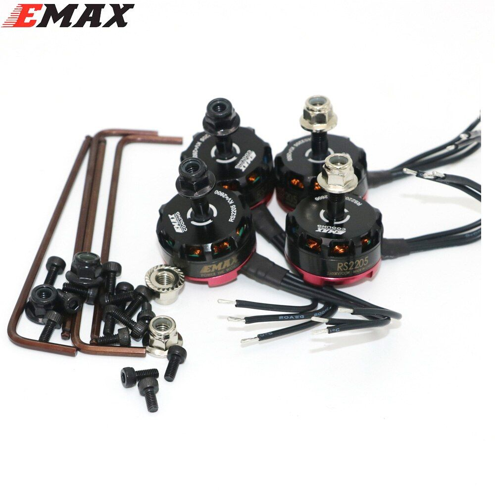 4 satz/los Emax RS2205 2300KV 2600KV Bürstenlosen Motor für FPV Quad Racing QAV Rennen 2 CW/2 CCW Großhandel dropship