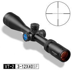 Discovery Berburu Riflescope VT-2 3-12X40 SF Sisi Fokus Lingkup Senapan Mil Dot Reticle Gratis Lingkup Gunung