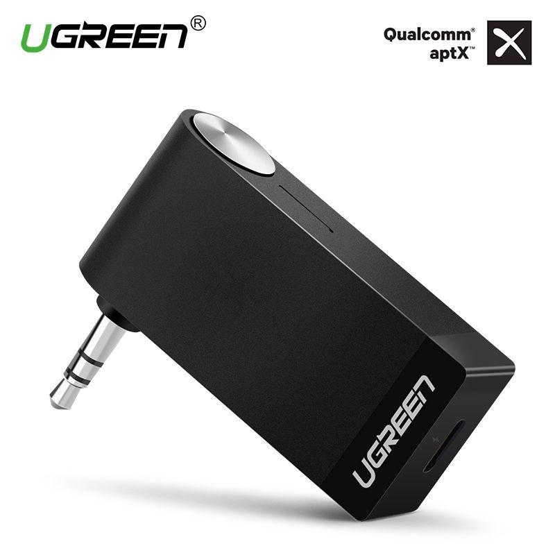 Ugreen Bluetooth Récepteur 3.5mm Jack Bluetooth Audio Musique Sans Fil Récepteur Adaptateur De Voiture Aux Câble Livraison pour Haut-Parleur Casque