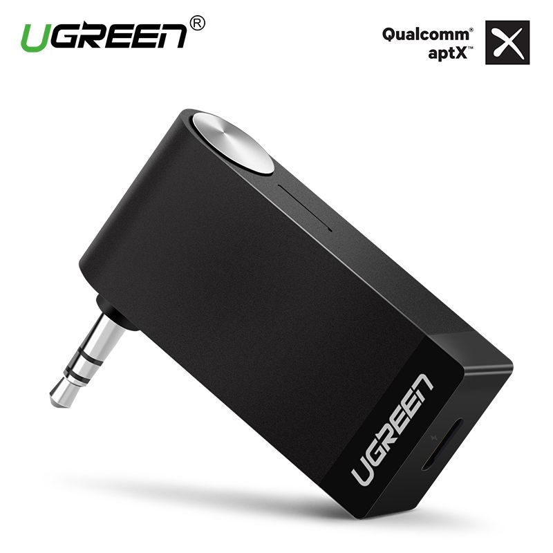Ugreen Bluetooth Receiver 3.5mm Jack Bluetooth Audio Music Wireless Receiver Adapter Car Aux Cable Free for Speaker Headphone
