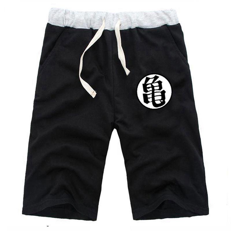 Été pantalons courts Anime Dragon Ball Son Goku décontracté coton Sweat Shorts dessin animé hommes survêtement Fitness genou pantalon