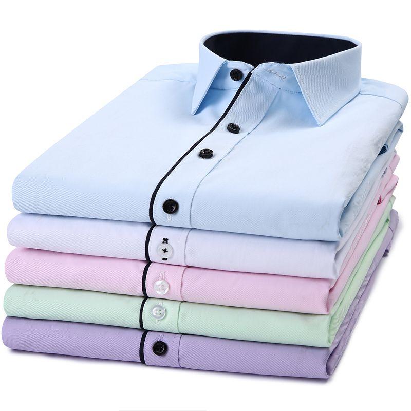 2018 Smart Casual Hommes de Chemise À Manches Longues Slim Fit Conception Style Mâle Entreprise Sociale Robe Chemises Haute Qualité Vêtements