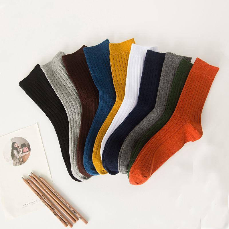 Primavera otoño invierno calcetines de algodón calcetines de los hombres de largo A75