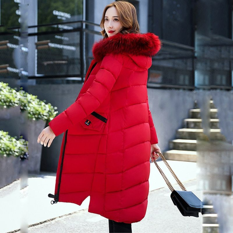 Wmwmnu 2017 women's fashion winter warm jacket and women's winter long hooded coat whit girls Elegant winter thick jacket parkas
