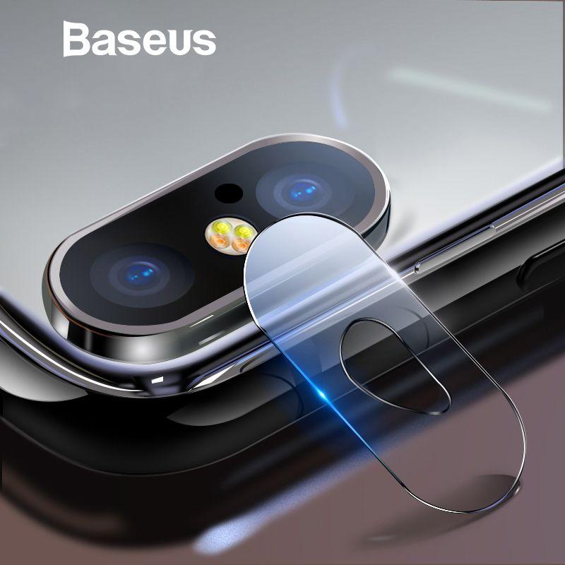 Baseus 0,15mm Gehärtetem Glas Objektiv Protector Für iPhone X Kamera Len Glas Film Für iPhoneX Zurück Objektiv Schutz Film 9 H Glas