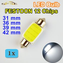 Flytop GIRLANDE COB 31mm 36mm 39mm 42mm Led-lampe 12 Chips C5W DC12V Weiß Farbe Auto dome Licht Auto Innen Lampe