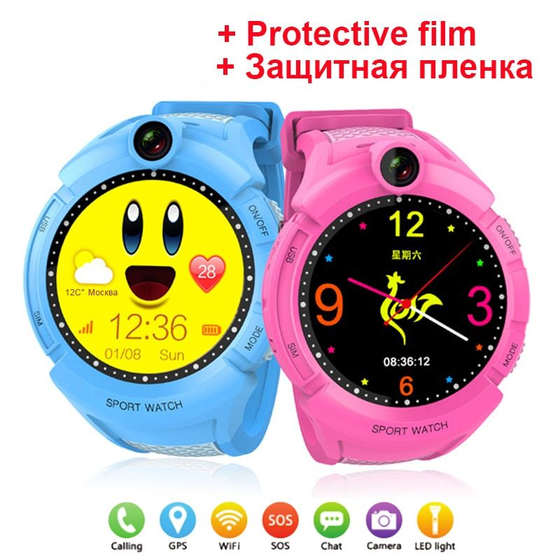 Q360 GPS Phone Positioning Fashion Children Watch 1.4 inch Color Touch Screen WIFI SOS Smart Watch Baby Q100 Q90 Q50 Q60 Find