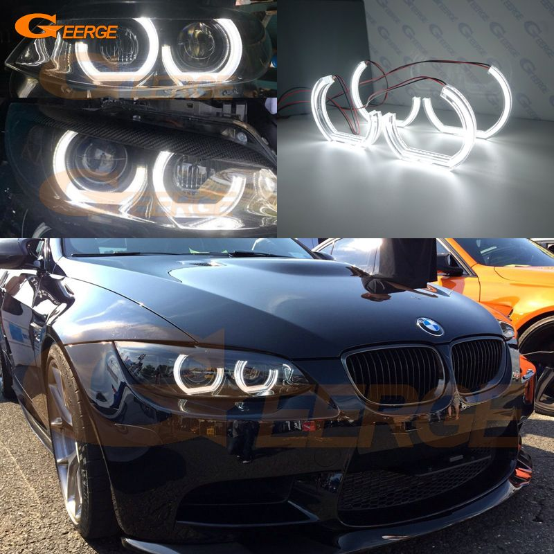 For BMW 3 Series E90 E92 E93 M3 Coupe and cabriolet 2007-2013 Excellent DTM M4 Style Ultra bright led Angel Eyes kit