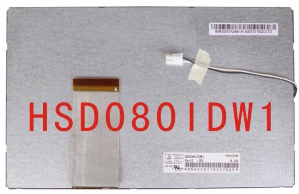 Original 8 pantalla lcd hsd080idw1 c00 c01 pantalla de visualización de dvd portátil de dvd del coche