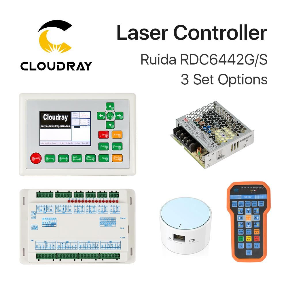 Cloudray Ruida RDC6442G DSP Controller + PSU / WIFI / Handle for Co2 Laser Engraving Cutting Machine