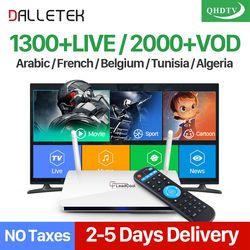Dalletektv QHDTV 1 Année IPTV Abonnement Leadcool Europe Arabe IPTV Boîte Français Pays-Bas Intelligent Android 6.0 IP TV Top Box