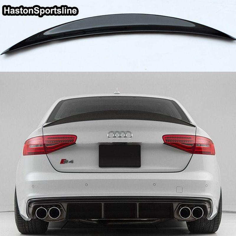 S4 HK Style Carbon Fiber Rear Spoiler Wing for Audi A4 B8.5 S4 4Door 2013~2016
