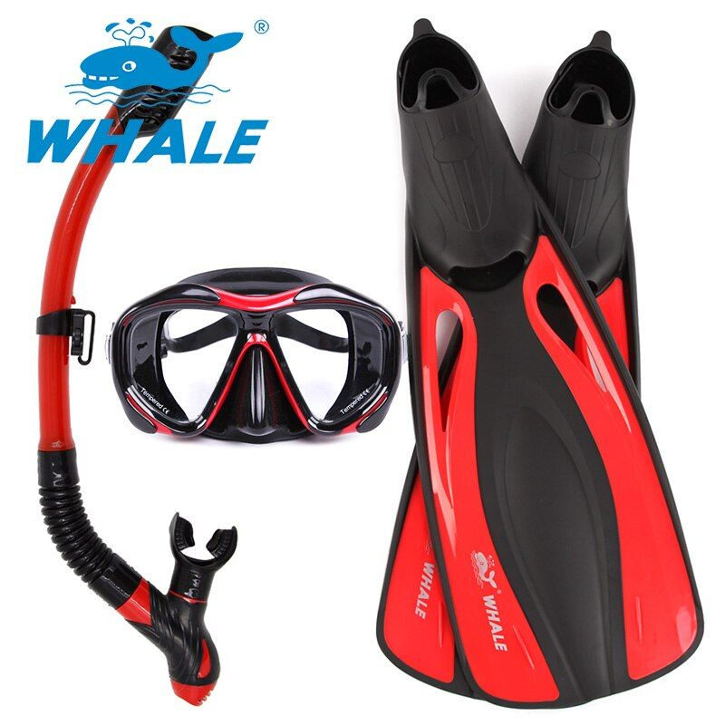 Professional Water Sports Swim Diving Mask Fins Adult Flexible Comfort Swimming Fins Dry Snorkel Breathing Tube Submersible