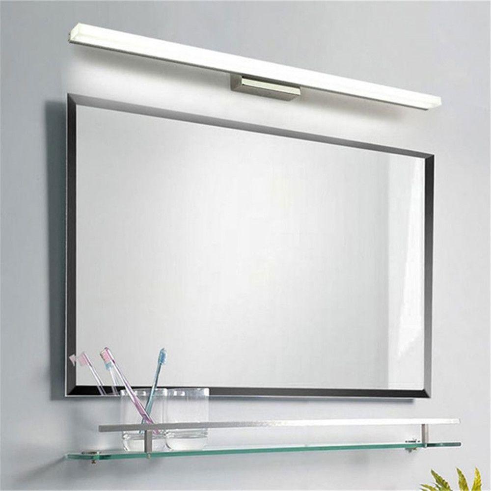 L39cm L49cm L59cm L69cm L89cm led miroir lumière en acier inoxydable base acrylique masque salle de bain vanité montage mural lumières