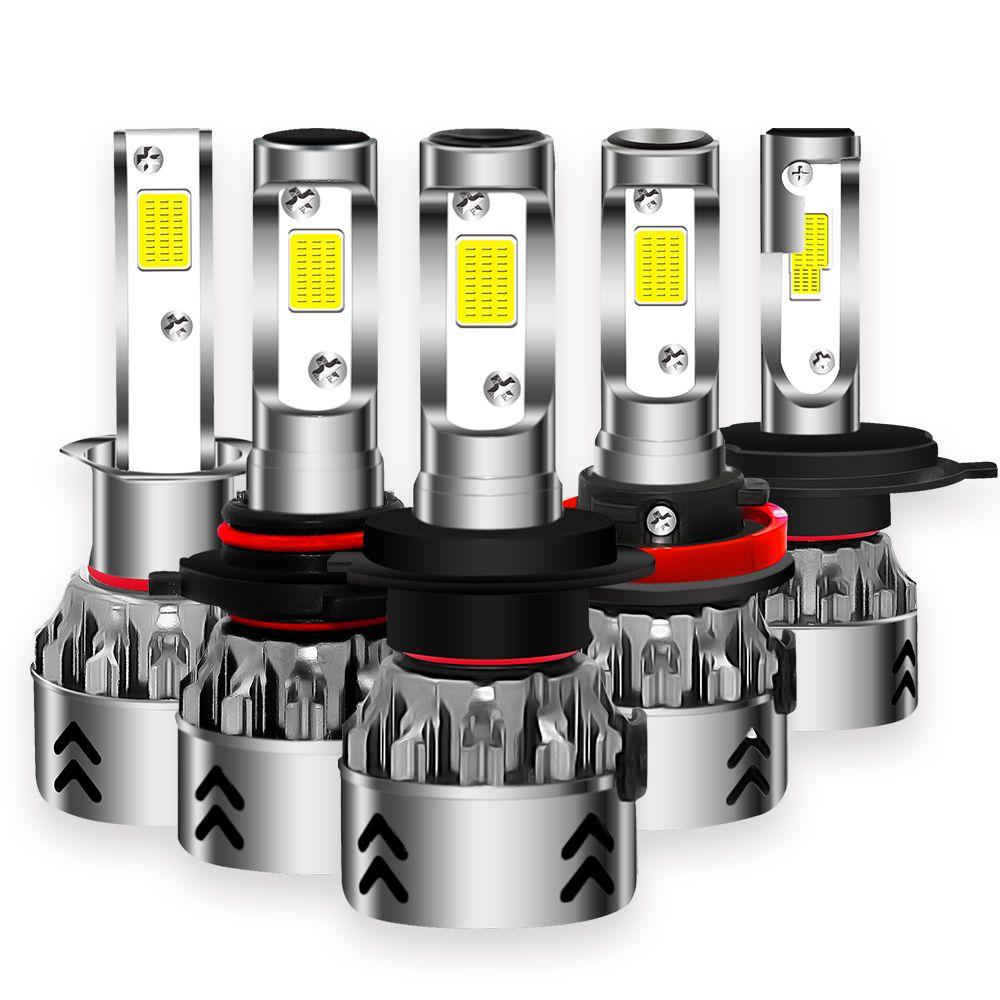 2018 New 12000LM H7 Led 12V 6000K H4 Headlight Bulbs H1 H8 H9 H11 9005 9006 HB3 HB4 Cob Chips Car Light Headlamp Mini Size