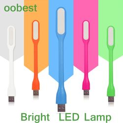 oobest Silica Gel Multicolor Mini Book light Reading Lamp USB LED Light Computer Lamp for Notebook PC Laptop Reading Night