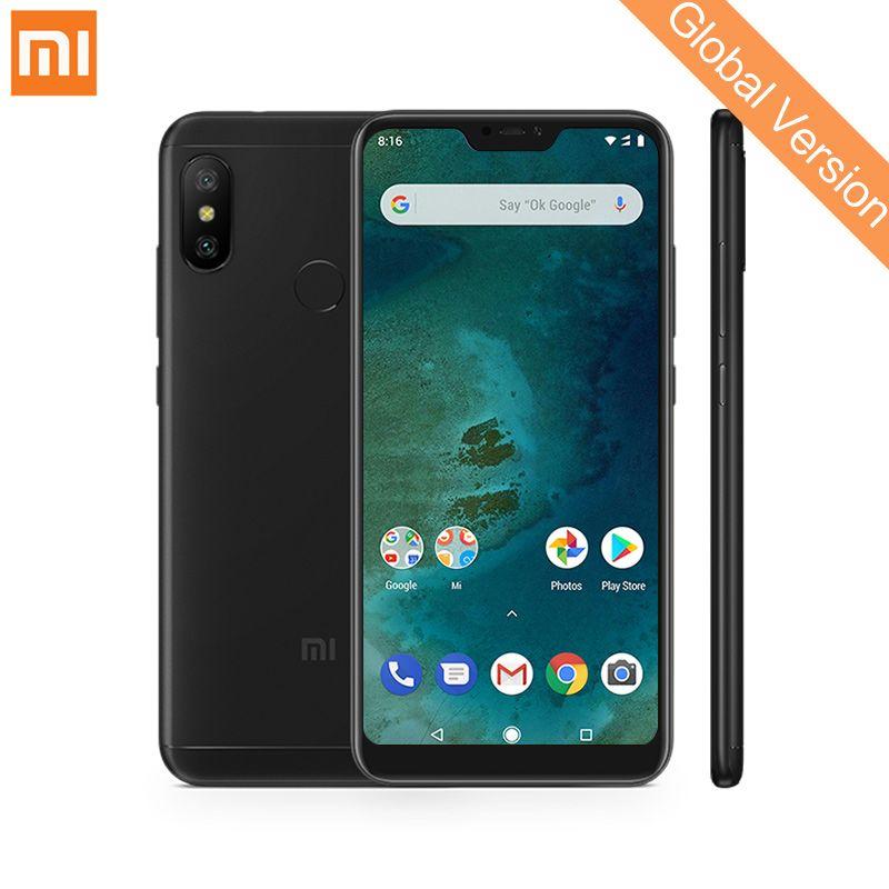 Global Version Xiaomi Mi A2 Lite 4GB 64GB Mobile Phones 5.84 Full Screen Snapdragon 625 Octa Core 12MP+5MP Dual Camera 4000mAh