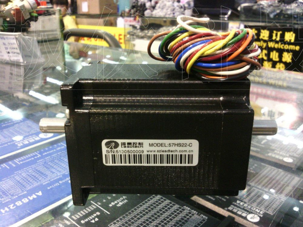 New Leadshine stepper motor 2-phase Biaxial NEMA 23 Can out 2.2NM 8 wires two model connect and can install Brake
