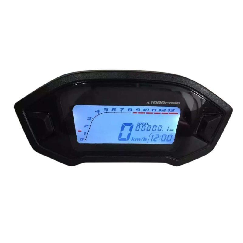 Waterproof DC 8-12V Motorcycle LCD Digital Display Gauge Speedometer Tachometer Odometer Motorbike RPM Speed Meter Instrument