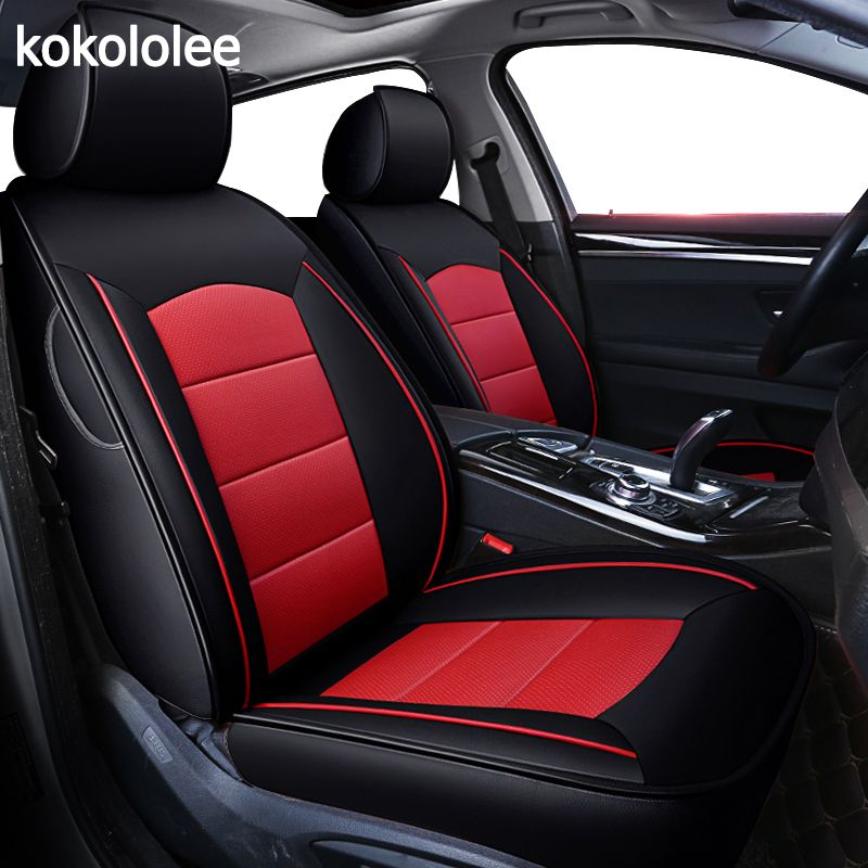 kokololee custom real leather car seat cover for Volkswagen vw Caravelle sharan UP Variant Automobiles Seat Covers car seats