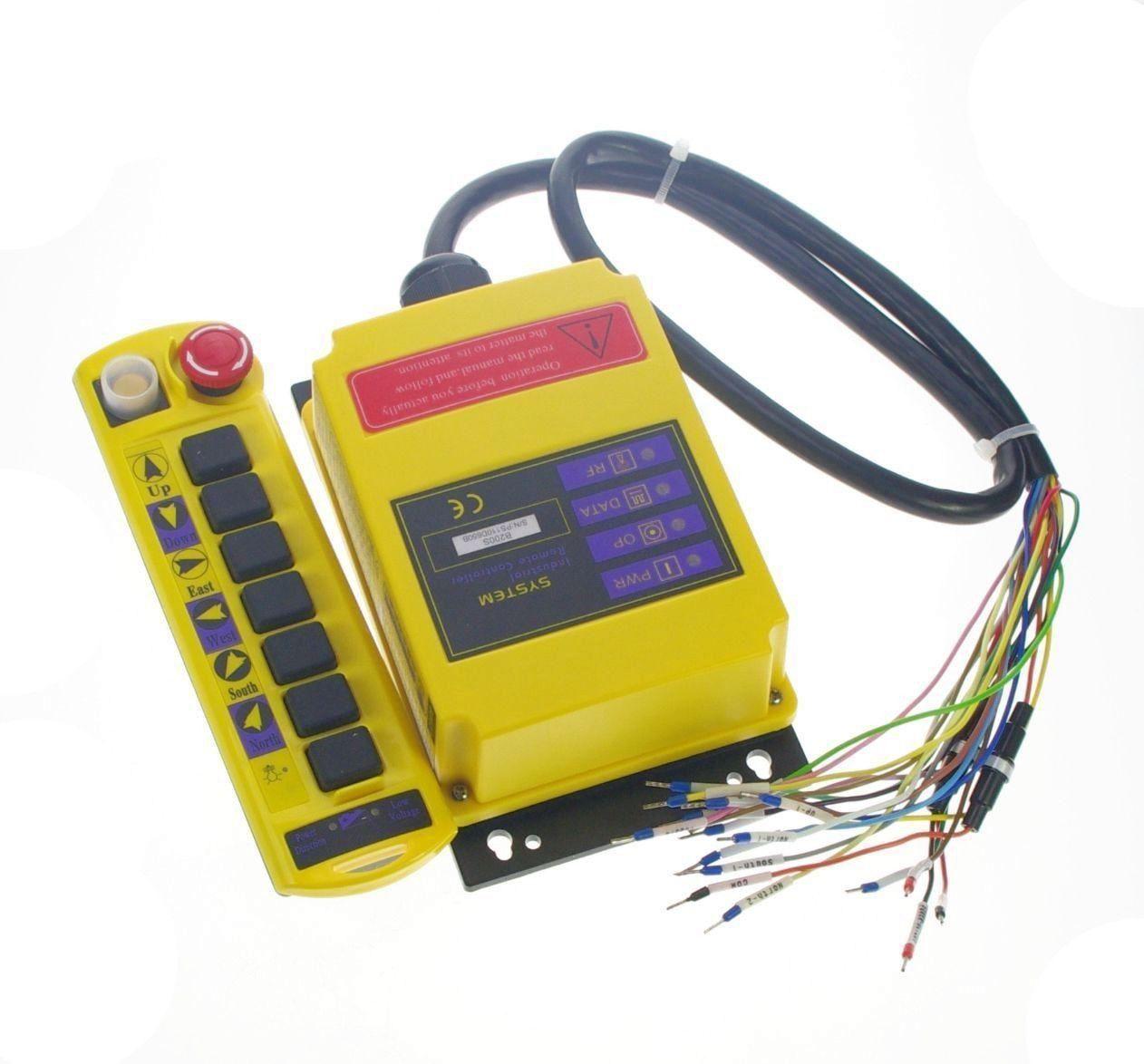 2 Speed Control Hoist Crane Radio Remote Control System Controller CE 12V AC/DC, 24V AC/DC, 110VAC, 220VAC, 380VAC, 415VAC