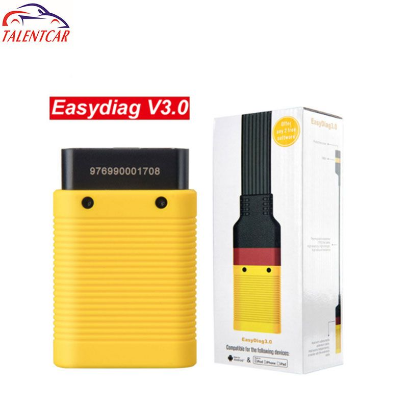 Launch EasyDiag 3.0 Plus OBDII Bluetooth Code Reader AndroidScanner OBD2 Extended Cable Diagnostic Tool X431 Easy Diag