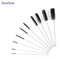 Sanchow 10pcs Nylon Pipe cleaning brush Long Handle Cleaning Brush