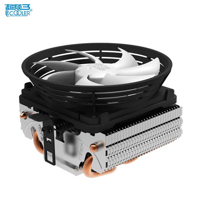 PcCooler V4 CPU kühler 2 heatpipe 3pin 10 cm leise lüfter für AMD für Intel LGA 775 1151 1150 1155 1156 cpu kühler fan