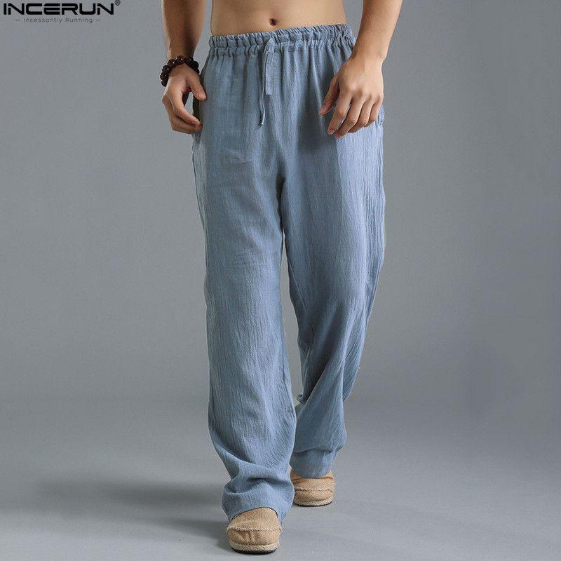 INCERUN Fashion 2018 Summer Autumn Plus Size Hip Hop Harem Pants <font><b>Men</b></font> Casual Loose Trousers Elastic Waist Joggers Baggy Pants 5XL