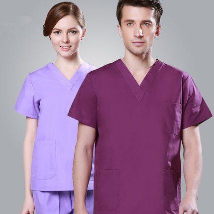Europa estilo Moda Traje Mujeres Bata De Laboratorio Médico Del Hospital Uniformes Matorrales conjuntos de Diseño Slim Fit hombres Respirables Uniforme Médico