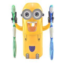 Dropshipping Minions dispensador automático de pasta creativa productos de baño accesorios de baño exprimidor de pasta de dientes para niños