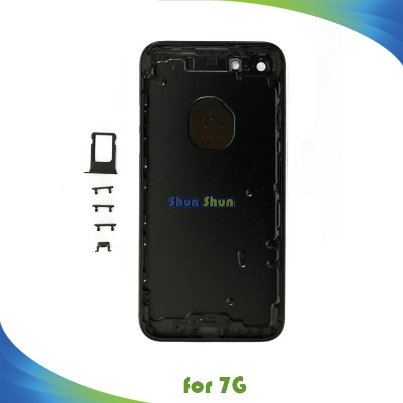Housing for iPhone 7 7G 4.7 7Plus 5.5  Battery Cover Door Rear Cover Chassis Frame Back Cover with Side Button Sim Tray