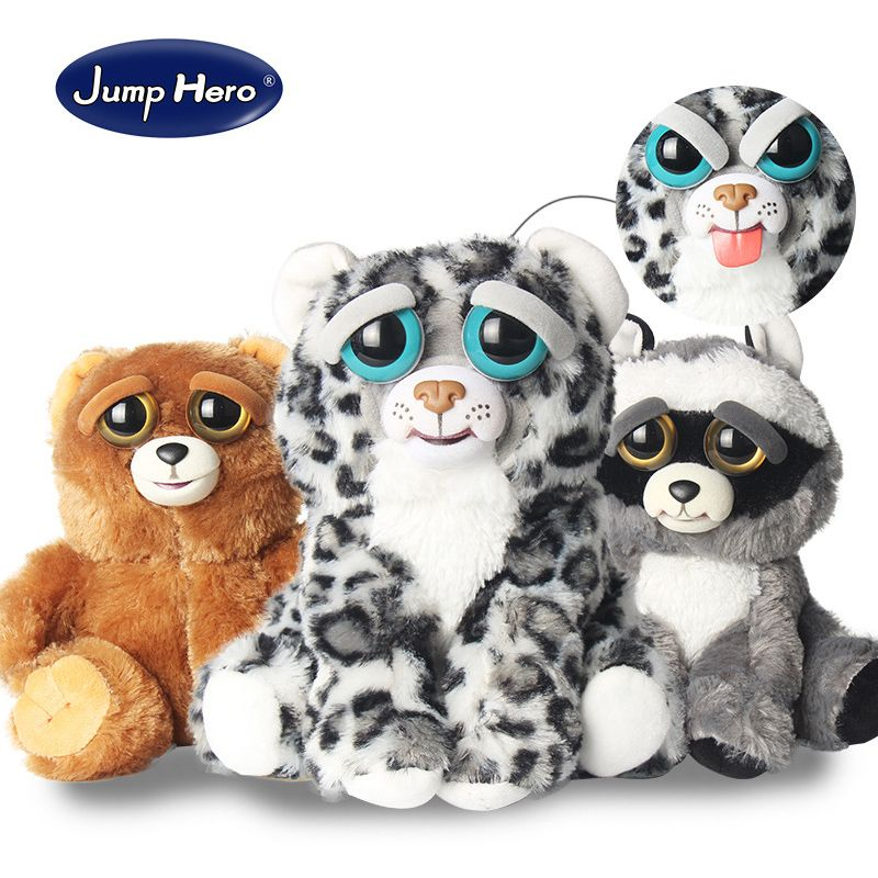 New Feisty Pets <font><b>Change</b></font> Face Funny Expression Animal Dolls Stuffed Plush Toys For Kids Cute Soft Cotton Christmas Gift Hot Sale