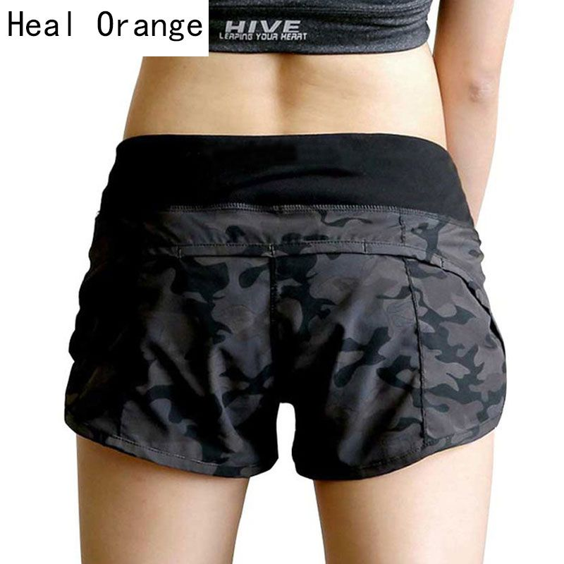 Guérir ORANGE Yoga Shorts femmes Compression Pantalon court Corto Yoga femmes Gym Fitness Yoga Shorts pour entraînement Sport course