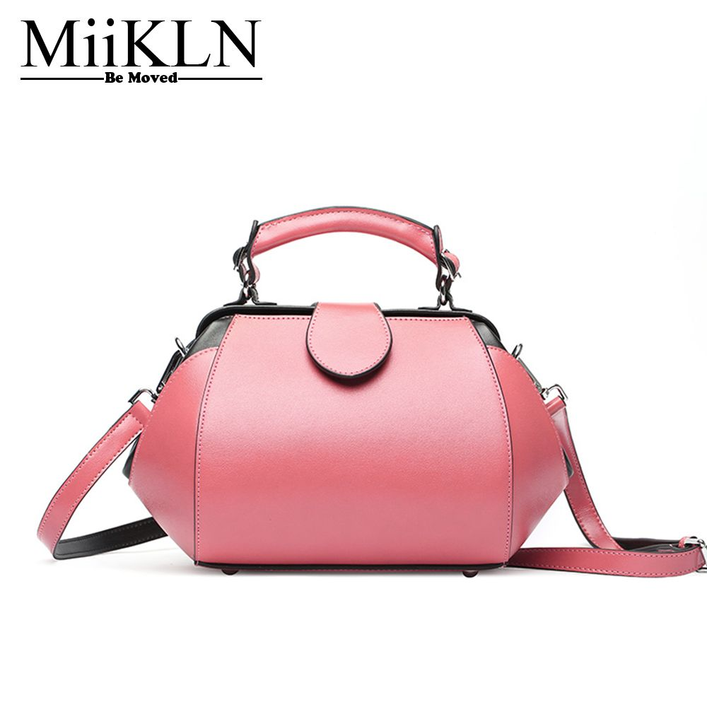 MiiKLN Pick Yellow Green Black Beauty Color Women Bags Cow Leather Soft Split Leather Shoulder Bags Solid Handbags