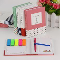 1 unid novedad creativa kawaii mini Memo pad viene con bolígrafo Notepad dar a sus hijos el mejor papelería aprendizaje