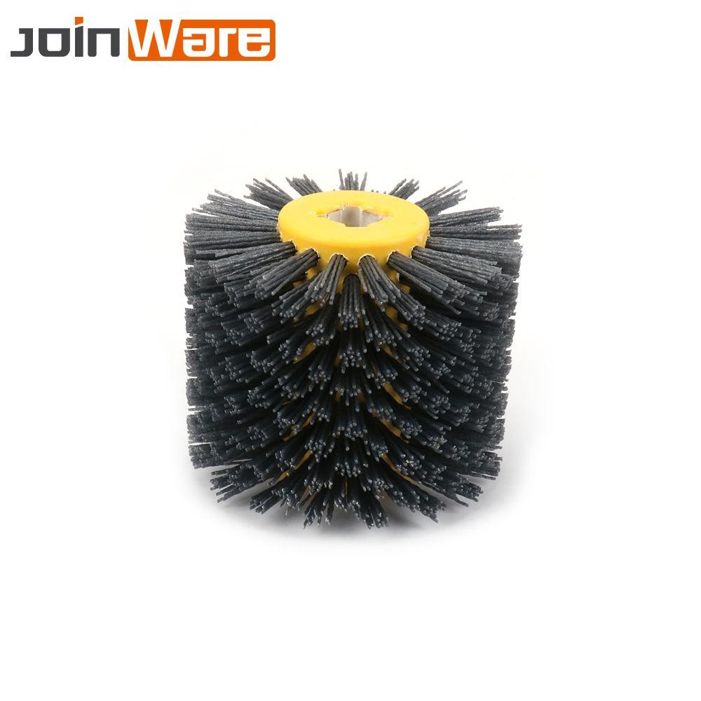 Abrasifs fil dessin roue Nylon brunissage roue brosse pour meubles en bois polissage 80 120 180 240 #120*100*20mm