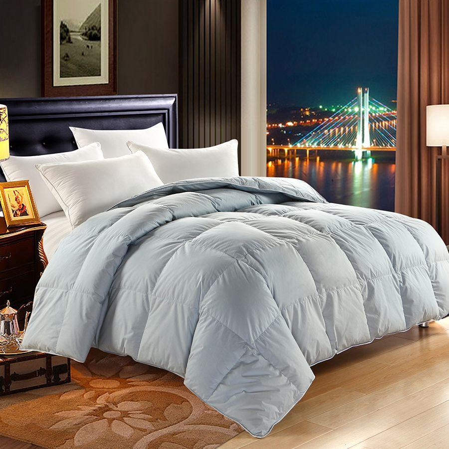 Peter Khanun 4 Colors Winter Duvet/Comforter/Quilt/Blanket White Goose Down Filler 100% Cotton Shell Twin Queen King Quality 066