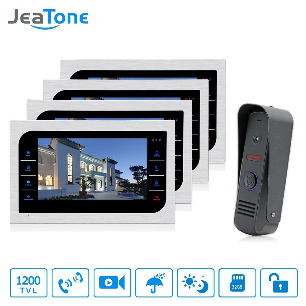 JeaTone Home Surveillance Intercom System 4pcs 10