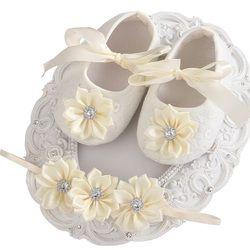 2016 Chaude/Pas Cher Rouge Points Bébé Chaussures Filles Arc Bandeaux Ensembles, Filles En Bas Âge Princesse Sapatos De Bebe Menina, mode Nouveau-Né Chaussures