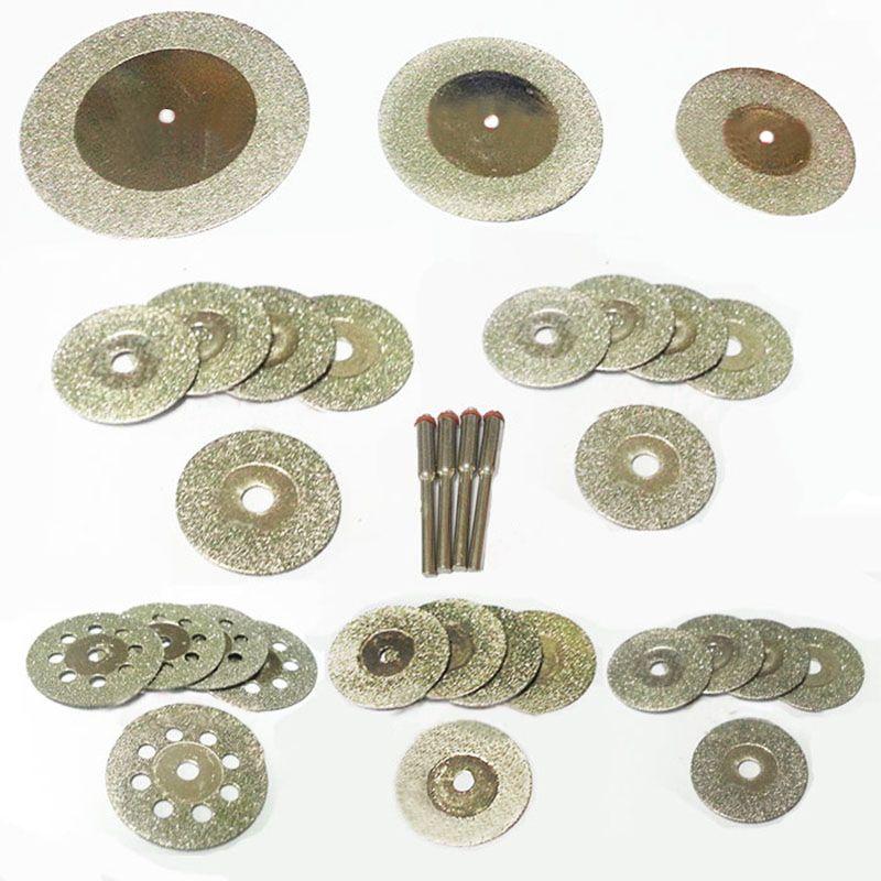 Disque de coupe diamant pour dremel outils accessoires mini lame de scie diamant meule ensemble outil rotatif roue scie circulaire