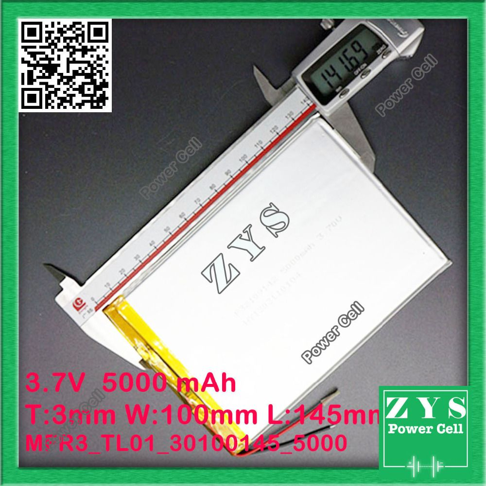Sicherheit Verpackung (4) 3,7 v 5000 mAH (polymer lithium-ionen-akku) li-ion akku für tablet pc 9,7 zoll 10,1 zoll lautsprecher