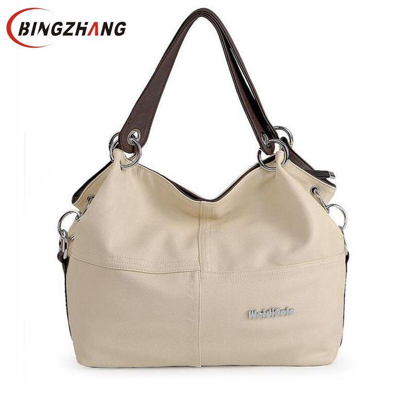Women Crossbody Bags Versatile Handbags Soft Offer PU Leather messenger bag/ Splice grafting Vintage Shoulder bags 2019 L8-48