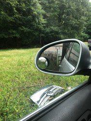 Бесплатная доставка, прозрачный автомобильный зеркало заднего вида, безопасное широкоугольное зеркало для слепых пятен, Парковочное кругл...