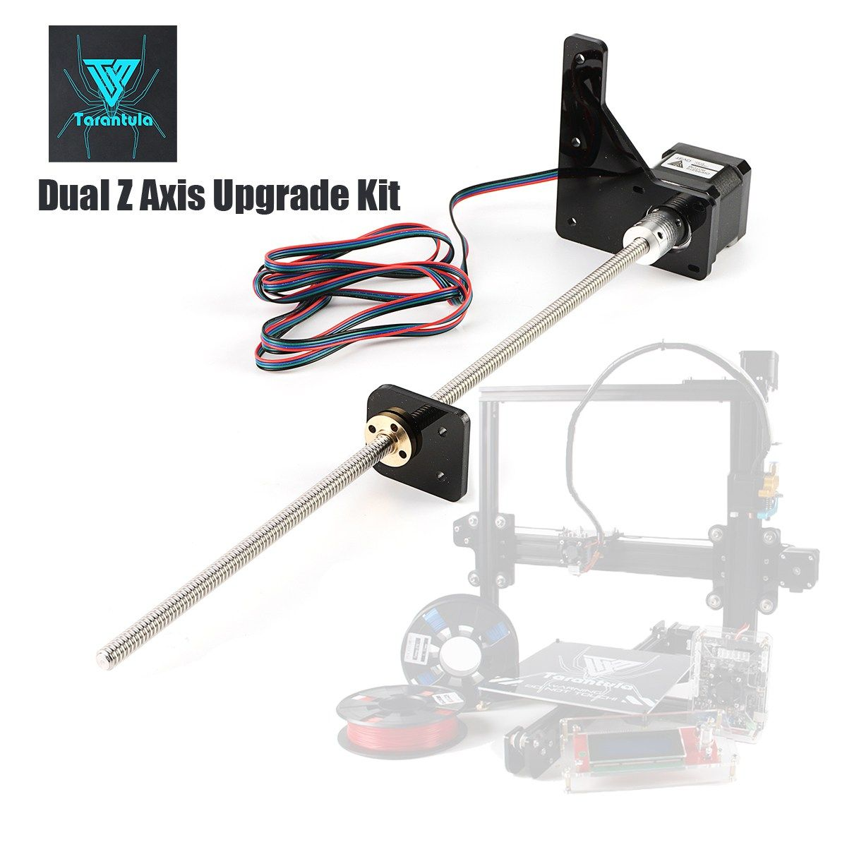 TEVO Tarantula Dual Z Axis Upgrade Kit Nema 42 Step Motor and T8*2 Lead Screw 375 mm 8mm with Brass Copper for 3D Printer Part