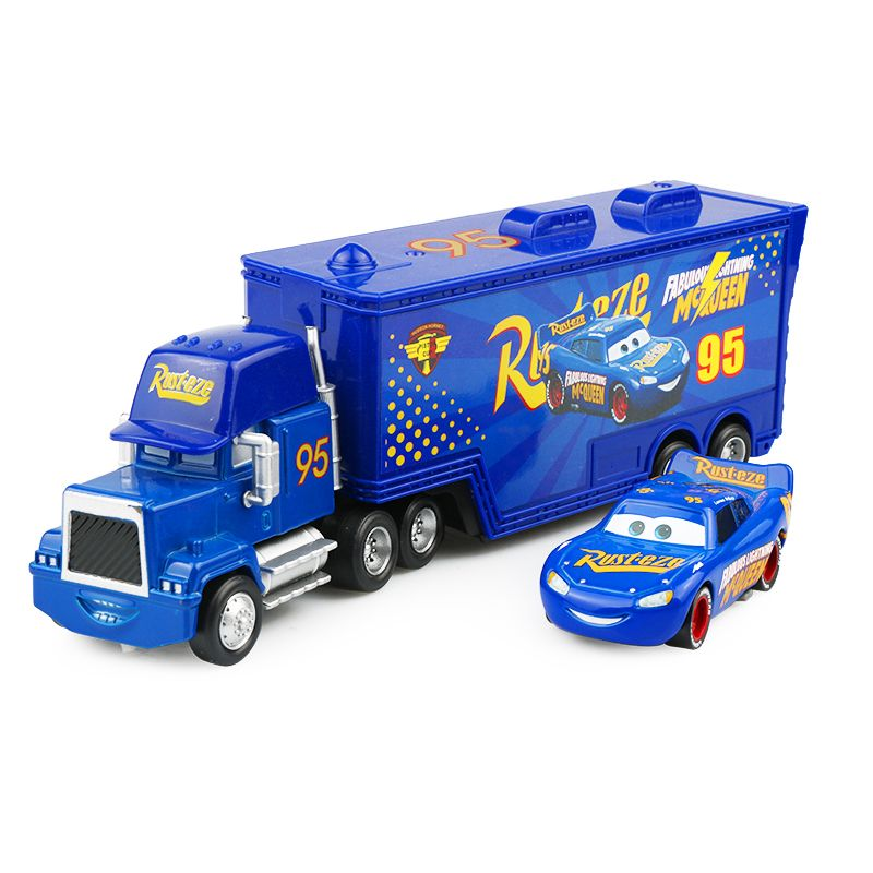 Disney Pixar Cars 3 2pcs Fabulous Lightning McQueen Uncle Container Truck 1:55 Diecast Alloy Model <font><b>Birthday</b></font> Gift Toy For Boy Kid